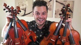 """PLAYING ONE SONG WITH 6 SMALL VIOLINS - """"Believer"""" by Imagine Dragons (Live Loop Cover)"""