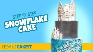 How To Make a Winter Snowflake Cake by Cassie Garner | How to Cake It Step by Step