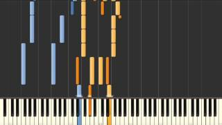 Let Them Talk (Sonny Thompson) as played by James Booker - Synthesia piano tutorial