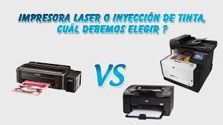 Impresoras Tinta VS Impresoras Laser