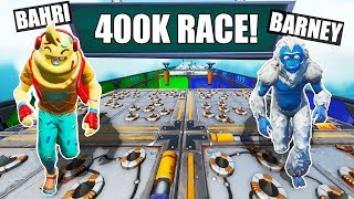 two bots race for 400K VBUCKS... *default deathrun*