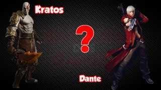 Kratos VS Dante   Batalha dos Games