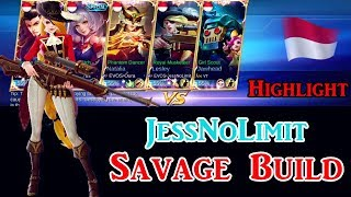 Jess No Limit Lesley Savage Revenge !!! in National Arena Contest (Highlight) #MobileLegendsArena