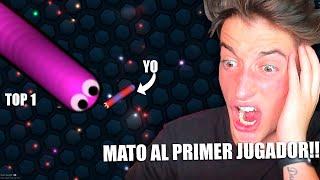 VUELVO A SLITHER.IO Y MATO AL PRIMER JUGADOR SIENDO PEQUEÑO!! BYTARIFA GAMING
