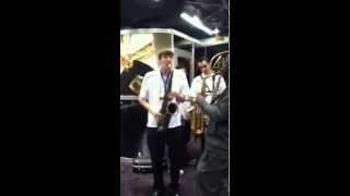 Derek Brown and Mike Phillips, Legere Booth NAMM 2015