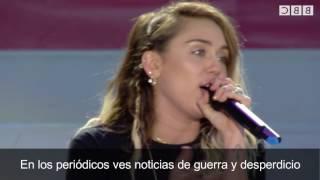 Don't dream it's over Subtitulado - Miley Cyrus con Ariana Grande (one love manchester)