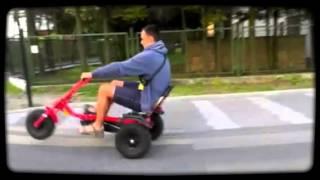 Mielno 2012 wygłupy na gokartach rowerowych