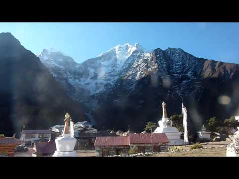 Sunstone Adventures- Monks blow Conch Shells at Tengboche Monastery, Everest Base Camp Trek, Nepal