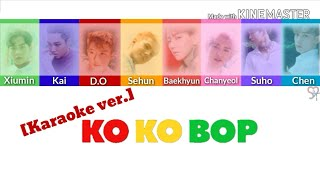 Exo (엑소) - Ko Ko Bop [Karaoke ver.] Color Coded Lyrics [Instrumental/Kpop]