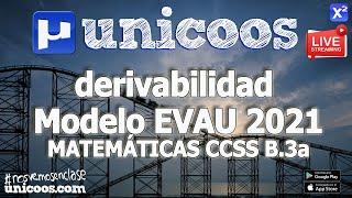 Imagen en miniatura para LIVE!!! Modelo EvAU 2021 - Matemáticas CCSS 11 - Ejercicio B.3a - Dominio y derivabilidad