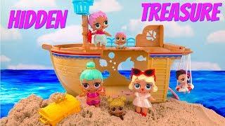 LOL Surprise Doll Ship on Beach Find Hidden Treasure