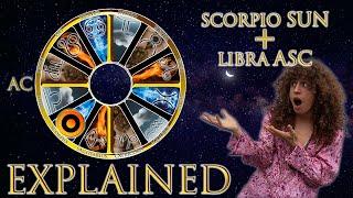 ☉ Sun in Scorpio + Libra Asc (rising sign) HD width=