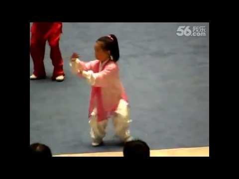 陈氏太极拳比赛,小女孩的精采表演 - YouTube