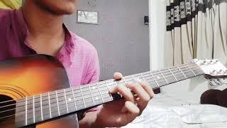 Guitar cover on phoolo ka taaro ka sab ka kehena hai