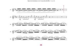 Flight of the Bumblebee, Arr. for Trumpet Bb (144 BPM)