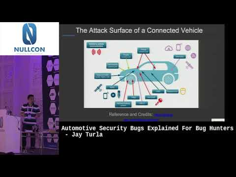 Automotive Security Bugs Explained for Bug Hunters | Jay Turla | NULLCON Goa 2020