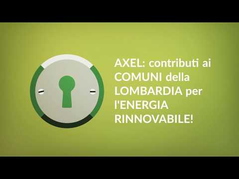 Axel: contributi per l'energia rinnovabile, fondo perduto al 100%