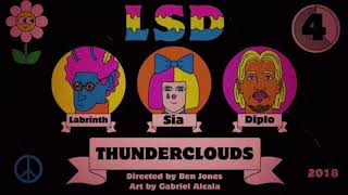 LSD - Thunderclouds - (Male version) - (Lower pitch)