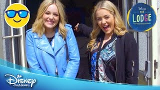 The Lodge | BTS: Lucy and Lydia On Set | Official Disney Channel UK