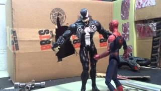 Spider-Man vs Venom stop motion fight