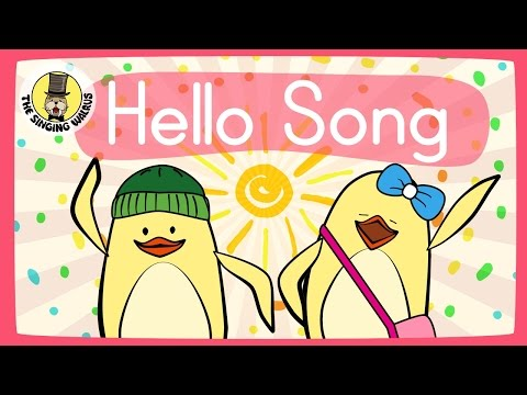 Hello Song for Kids | Greeting Song for Kids | The Singing Walrus - YouTube
