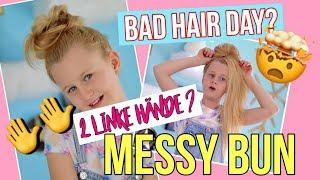 BAD HAIR DAY?🙈 MESSY BUN Tutorial | MaVie Noelle