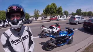 Road Rage And Douchey Motorcycles, Cager throws Coffee!