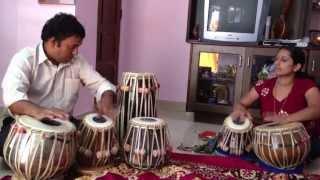 Devadatta Prabhu and Smt. Srilatha - tabla Teen Taal (Mangalore, Jan 16, 2013)