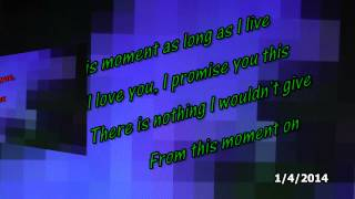 From This Moment On - Shania Twain [with lyrics on screen]
