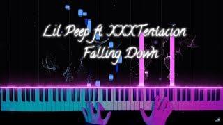 Lil Peep & XXXTENTACION - Falling Down - piano version / tutorial