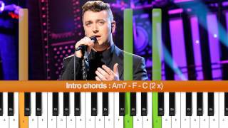 "How To Play ""Stay With Me"" (Sam Smith) Piano Tutorial / Chords"