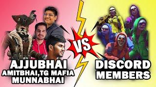 AJJUBHAI SQUAD VS DISCORD MEMBERS | CLASH SQUAD | AMITBHAI,MUNNABHAI | Free Fire Highlights