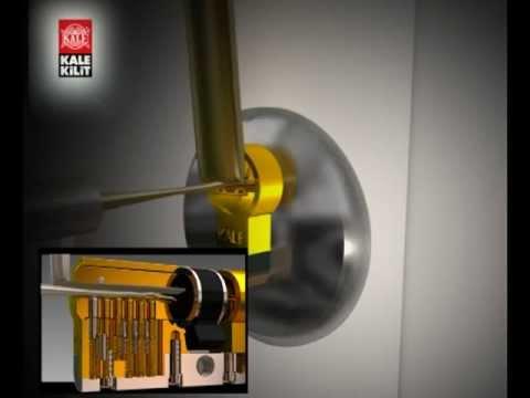 Kale 164/YGS yüksek güvenlikli silindir (kapı göbeği, barel) (www.hirdavatfirsati.com)