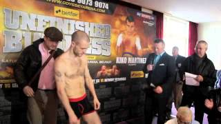 LEE SELBY v MARTIN LINDSAY OFFICIAL WEIGH-IN / iFILM LONDON / UNFINISHED BUSINESS