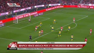 Resumo Benfica 3 X Arouca 1 - Liga Nos - 23/01/2016