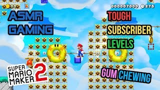 ASMR Gaming   Super Mario Maker 2 Tough Subscriber Levels Gum Chewing 🎮🎧Whispering😴💤