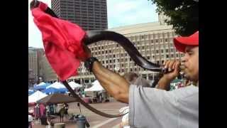 Shofire - 2. UNOW Boston City Hall Plaza  Prayer Walk Shofar Blast 7/14/12
