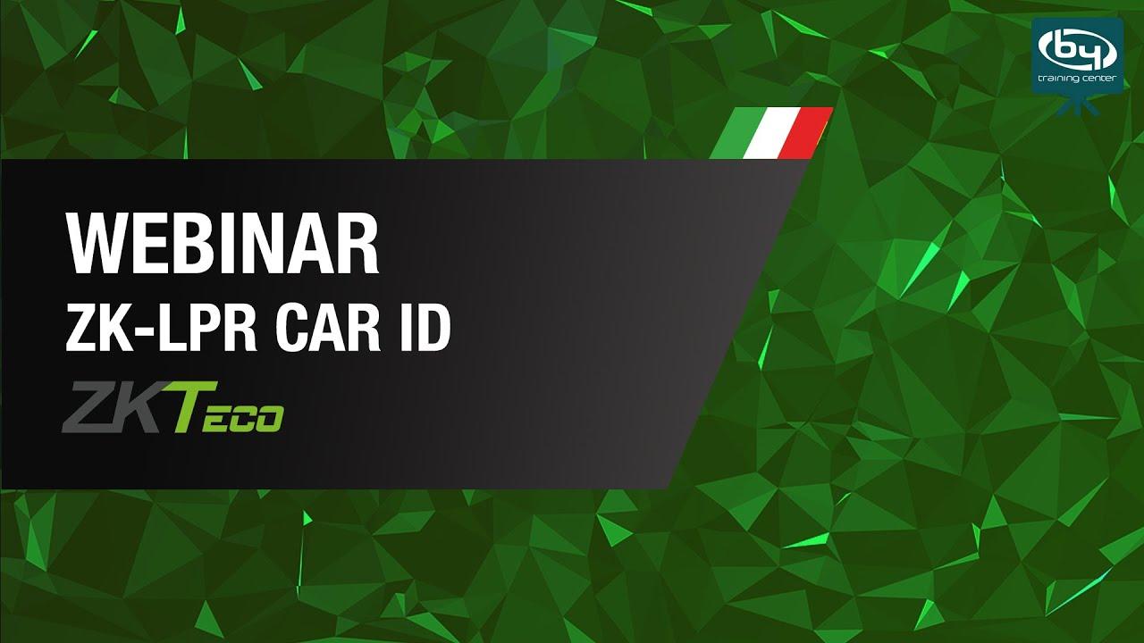 ZK-LPR Car ID: Webinar tecnico - ZKTeco