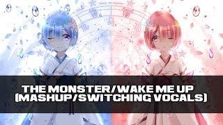 『Nightcore』- The Monster/Wake Me Up (Mashup/Switching Vocals)