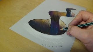 3D Drawing Hole for Kids - How to Draw 3D Hole - Trick Art on Paper