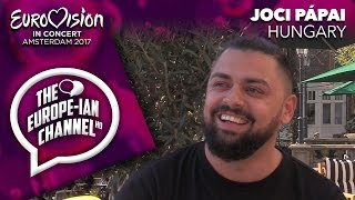 Joci Pápai (Hungary 2017) - Interview - Eurovision in Concert Amsterdam