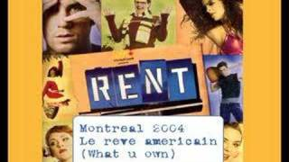 RENT Montreal 2004 (french) - What you own (live)