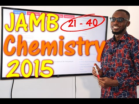 JAMB CBT Chemistry 2015 Past Questions 21 - 40