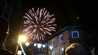 Nantwich Xmas fireworks 2016