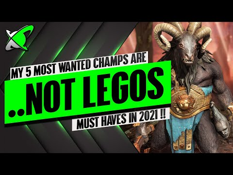 My 5 MOST WANTED Are NOT EVEN Legos !? | Best Champions In RAID: Shadow Legends
