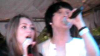 Mitchel Musso at the Grove with Miley Cyrus - Welcome To Hollywood