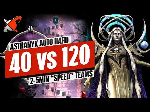 "My Astranyx HARD AUTO Teams | 2 MIN ""No Lego"" 40 vs 5 MIN ""1 Lego"" 120 Teams | RAID: Shadow Legends"