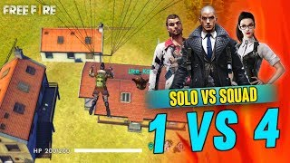 Solo vs Squad 12 Kill Best Gameplay - Garena Free Fire- Total Gaming