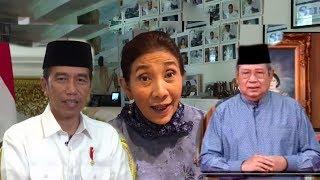Ucapan Selamat Idul Fitri : Jokowi-SBY-Susi Pudjiastuti. Beda orang beda Gaya