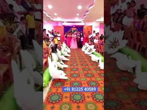 Flower Chain Bride Groom Entry Concept +91 81225 40589 Chennai | Andhra | Tamil Nadu | Pondicherry